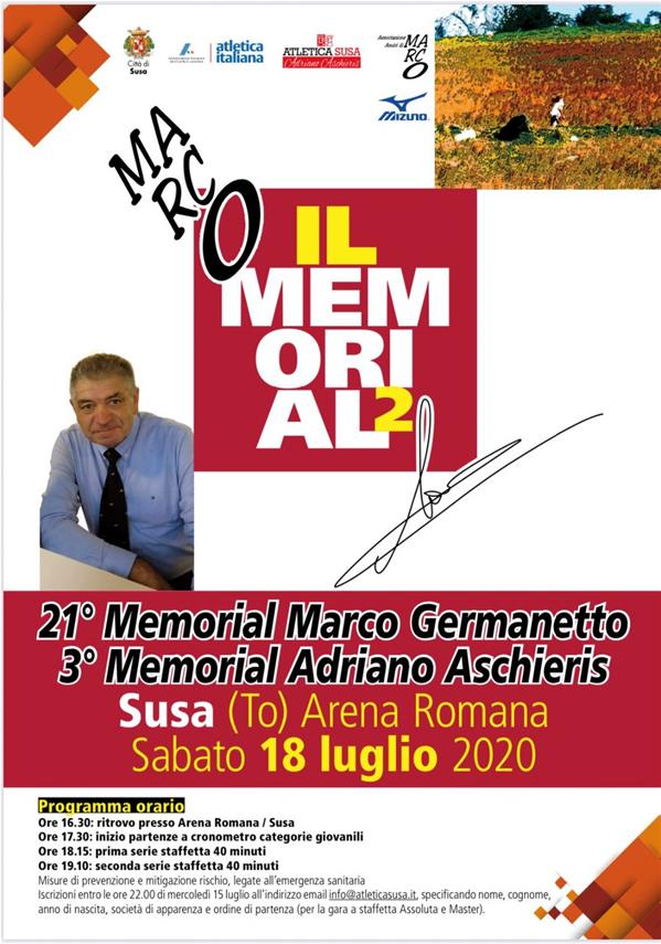 21^ Memorial Marco Germanetto - 3^ Memorial Adriano Aschieris